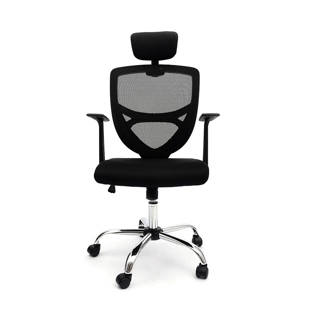 Ergonomic Mesh Office Chair High Back Swivel Computer Desk Task Chairs with Adjustable Backrest, Headrest and Seat Height for Home Office Conference Room 8159BK (Black)