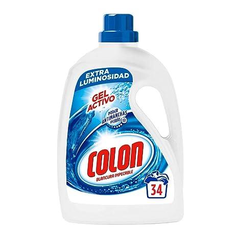Colon Detergente de Ropa para Lavadora Líquido Gel Activo - 34 ...