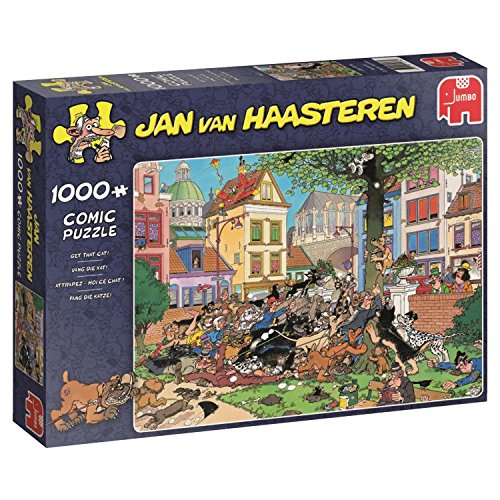 Jan van Haasteren 19056 - Get That Cat! 1000 Piece Jigsaw Puzzle