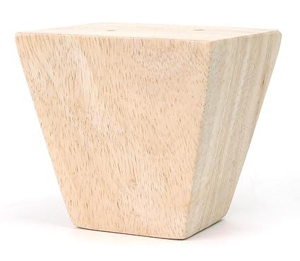 Leg Daddy 3 1/4u0026quot; Unfinished Square Tapered Sofa Leg, ...