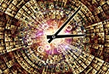 CSFOTO 5x3ft Background for Number Domain Time Travel Photography Backdrop Time Shuttle Amount Watch Moment Concept Information Technology hours Clockwork Photo Studio Props Polyester Wallpaper