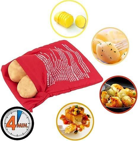 Paquete de 4 bolsas de cocina para patatas en microondas ...