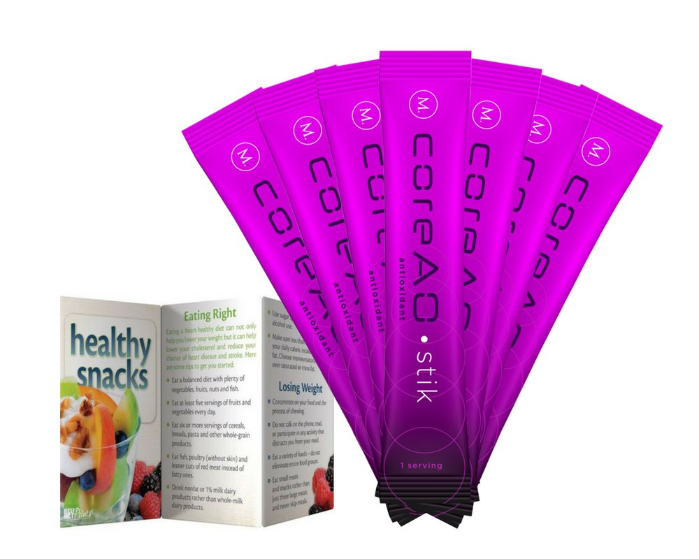 Amazon.com: CoreAO Antioxidant Drink Sticks w/Bonus Healthy Snacks Pocket Guide - Immune and Joint Support Supplement Drink 8 Servings: Health & Personal ...