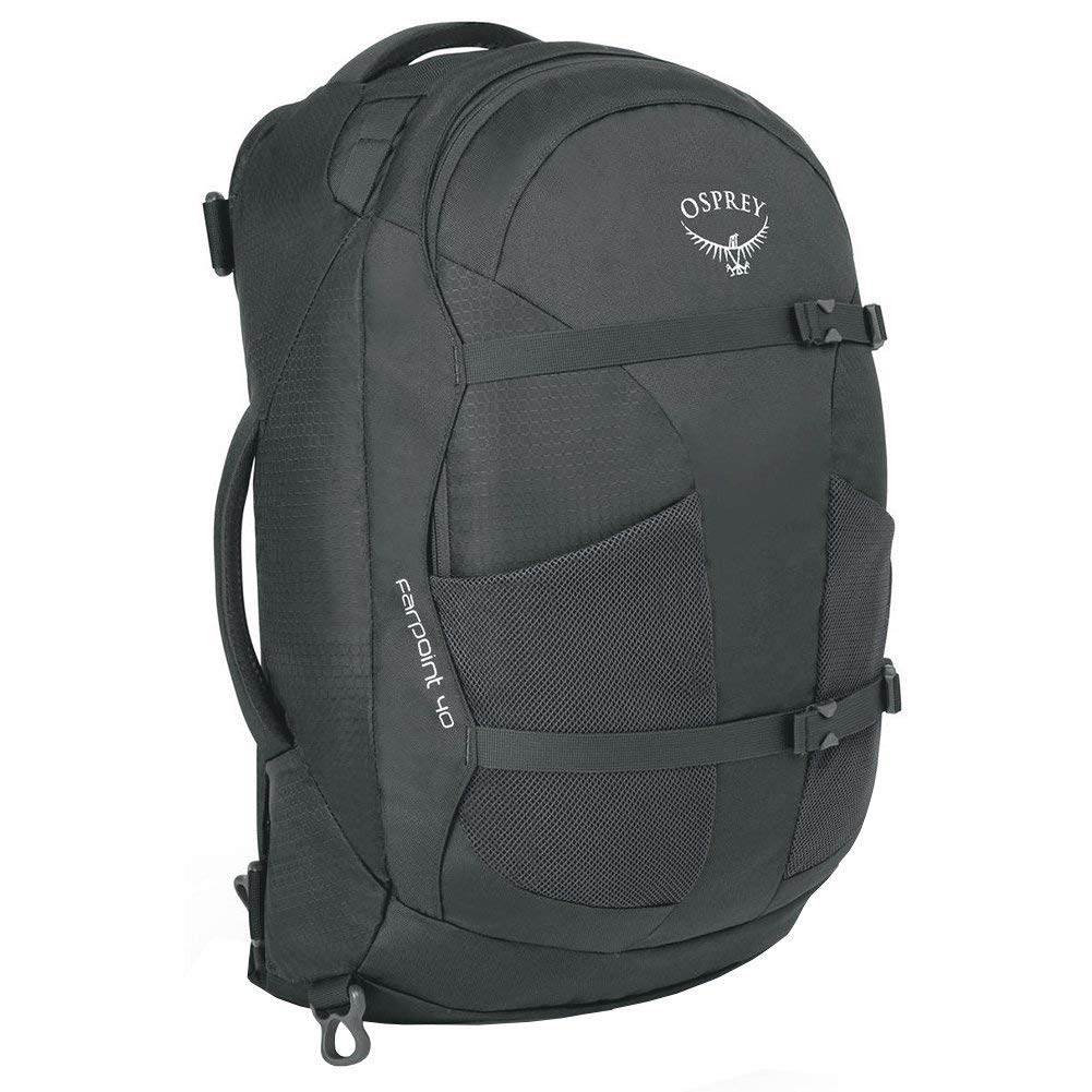 Osprey Packs Farpoint 40 Travel Backpack, Volcanic Grey, Small/Medium by Osprey (Image #1)