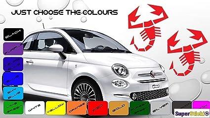 Supersticki Fiat Abarth Scorpion Aufkleber Ca 30cm 2 Stück Aufkleber Sticker Decal Aus Hochleistungsfolie Aufkleber Autoaufkleber Tuningaufkleber Racingaufkleber Rennaufkleber Hochleistung Auto