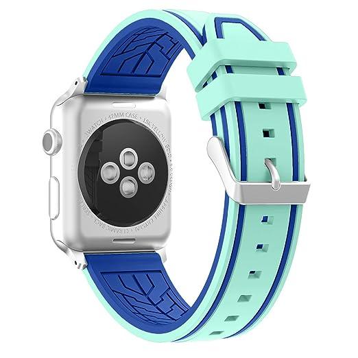 Fmway Repuesto de Correa Reloj de Silicona para Apple Watch Series 4 42mm, Apple Watch