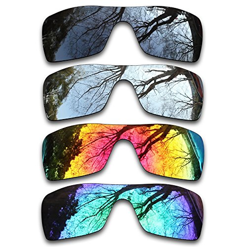 ToughAsNails Set of 4 Polarized Replacement Lenses for Oakley Batwolf Pack-BSFE2