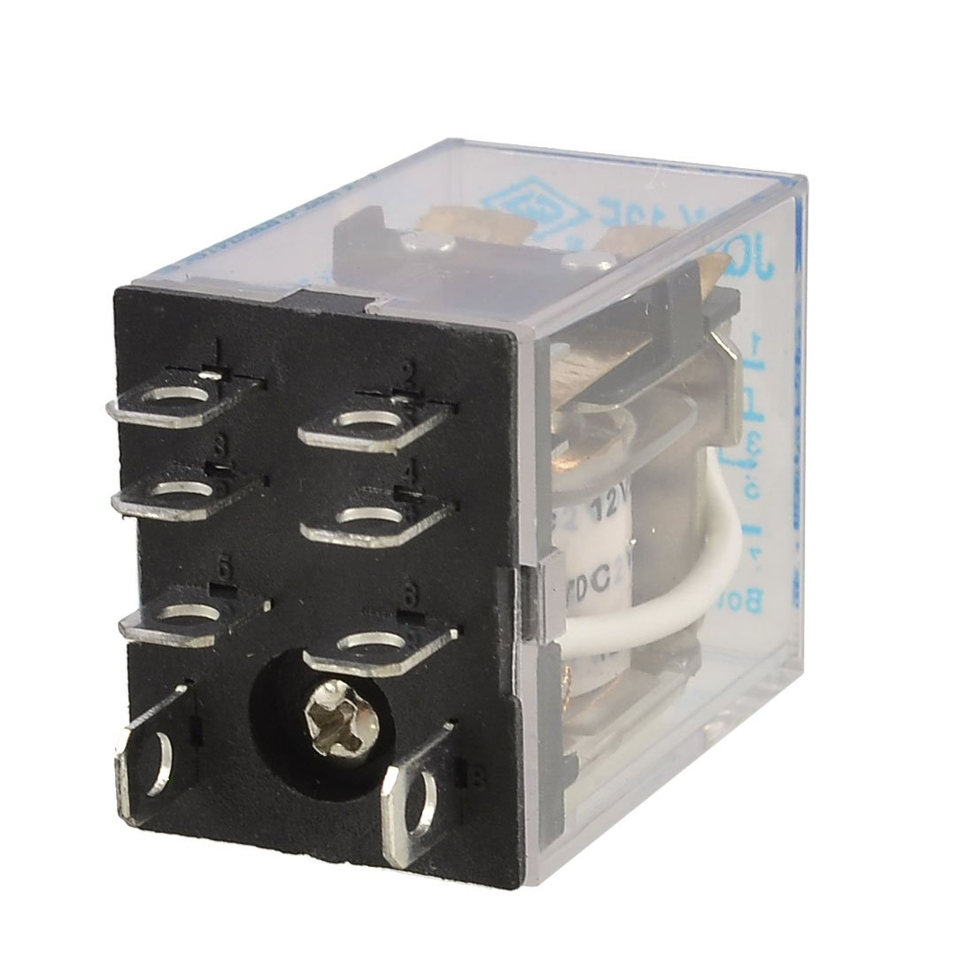 Uxcell Dc 12v Coil 10a 240vac 28vdc Dpdt Electromagnetic Relay Jqx Dc5v To Dc30v Converter By 74hc14 13f2z Welcome
