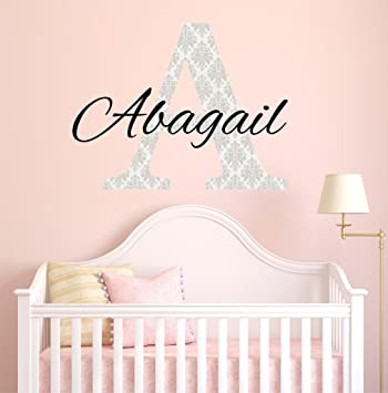 Amazon.com: Girl Name Wall Decal, Girls Name, Wall Decal, Wall Decor ...