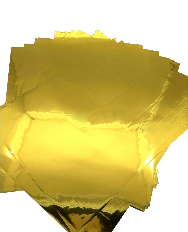 50Pcs A4 8x12 Gold Multi-Color Transfer Foil Paper Laser Printer Hot Laminator Gold