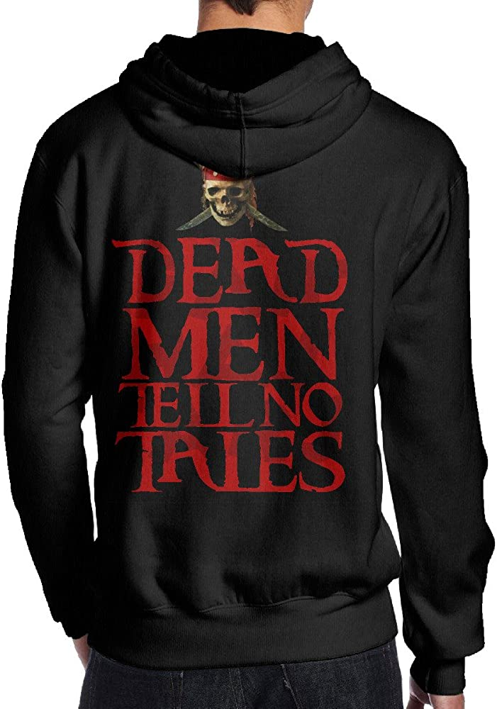 Men Pirates Of The Caribbean Dead Men Tell No Tales No Pockets Pullover Funny Hooded Sweatshirt
