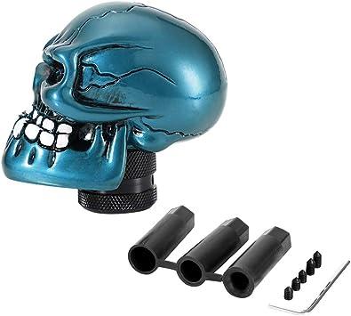 OTOTEC M8 M10 M12 Car Red Manual Skull Head Gear Shift Knob Gear Stick Shifter Lever