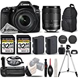Canon EOS 80D Wi-Fi Full HD 1080P Digital SLR Camera + Canon 18-135mm IS USM Lens + Battery Grip + Extra Battery + 64GB Storage. All Original Accessories Included - International Version