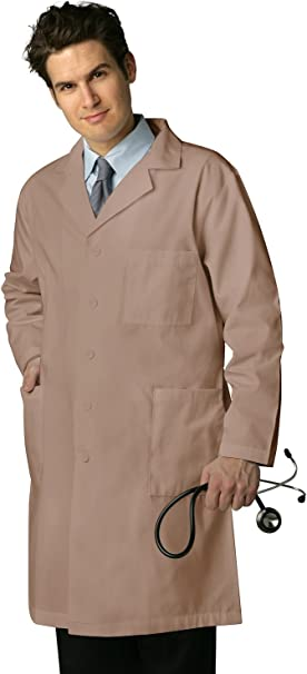 "Adar Unisex Doctor Nurse Scrub Uniform Lapel Collar Inner Pockets Lab Coat 39/"""