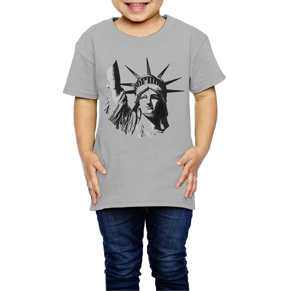 Statue of Liberty Football Crew Neck Short Sleeve Tee Shirt 2-6 Toddler Kids