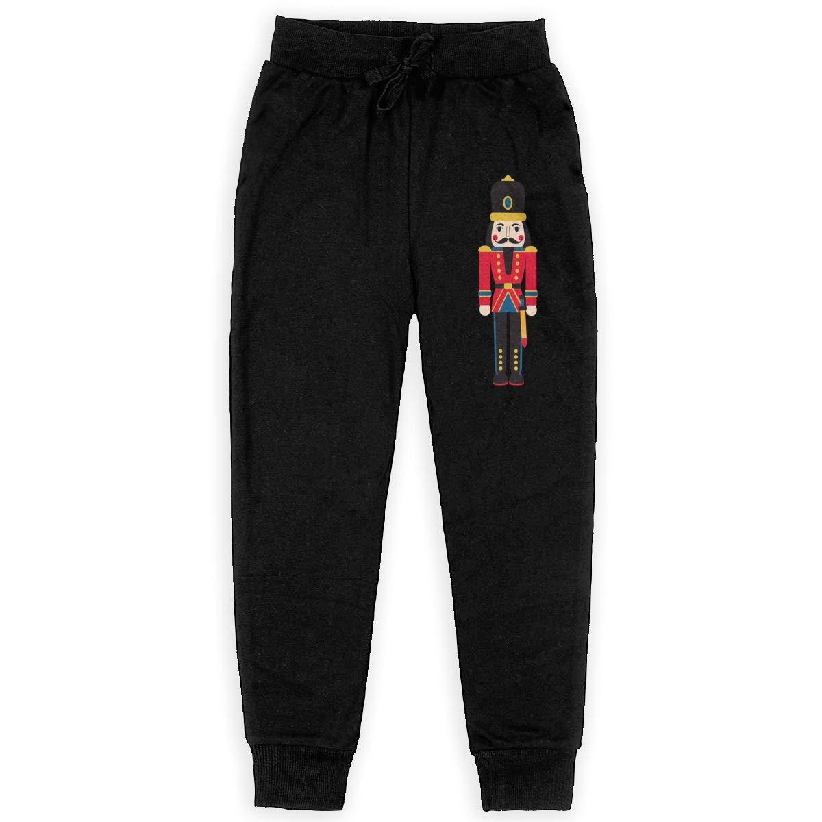 Boys Sweatpants Soldier Figurine Nutcracker Joggers Sport Training Pants Trousers Cotton Sweatpants for Youth