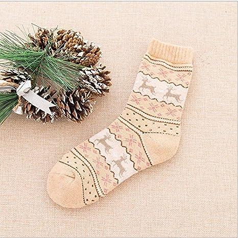 Calcetines Lindos De Lana De Navidad Calcetines De Navidad De Dibujos Animados Niño CalcetíN
