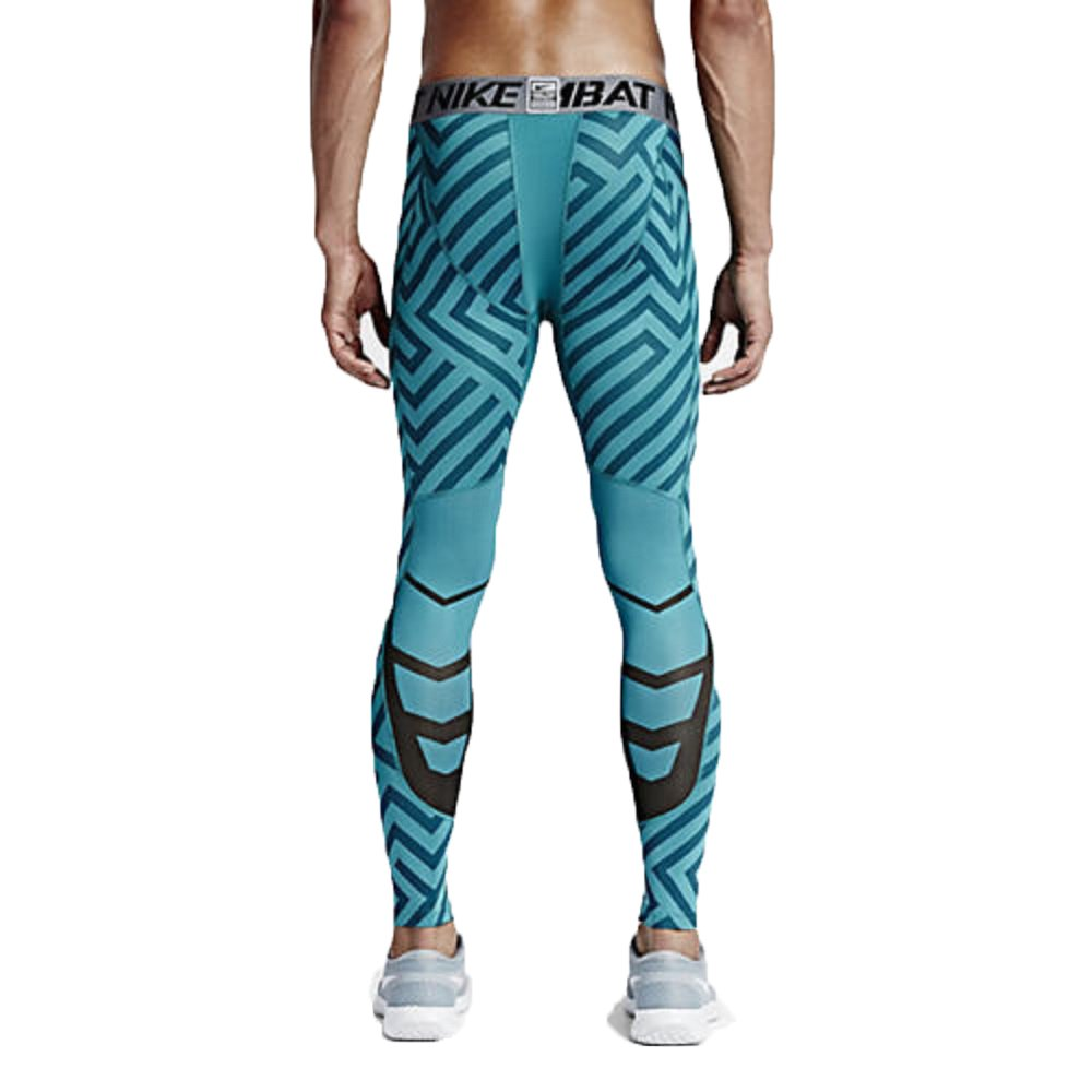 9b4752d2 Nike Men's Pro Hypercool Endzone 3.0 Compression Tights (Medium, Emerald  (309) / Black/Grey/White/Emerald) (Large, Emerald (309) / Black/Grey/White /Emerald)