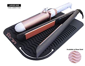 Professional Silicone Heat Resistant Styling Station Mat for All Hair Irons, Curling Iron, Straightener Pad, Iron Flat Hair, Waver, Hair Tools Appliances Hair Dryer Salon Tools Hair Stylist Black