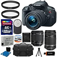 Canon EOS Rebel T5i 18.0 MP CMOS Digital Camera HD Video with EF-S 18-55mm f/3.5-5.6 IS STM Zoom Lens With Canon EF-S 55-250mm STM f/4-5.6 IS Image Stabilizer Telephoto Zoom Lens + Deluxe Case + Extra Battery Pack + 2 Filters with 32GB Memory Card Complete Deluxe Accessory Bundle Review Review Image