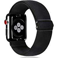 Kraftychix Elastic Adjustable Watch Band Compatible with Apple Watch 38mm/40mm,Soft Stretch Bracelet Women/Men Scrunchie…