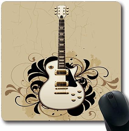 Luancrop Alfombrilla de ratón Funky Flower Guitarra eléctrica en ...