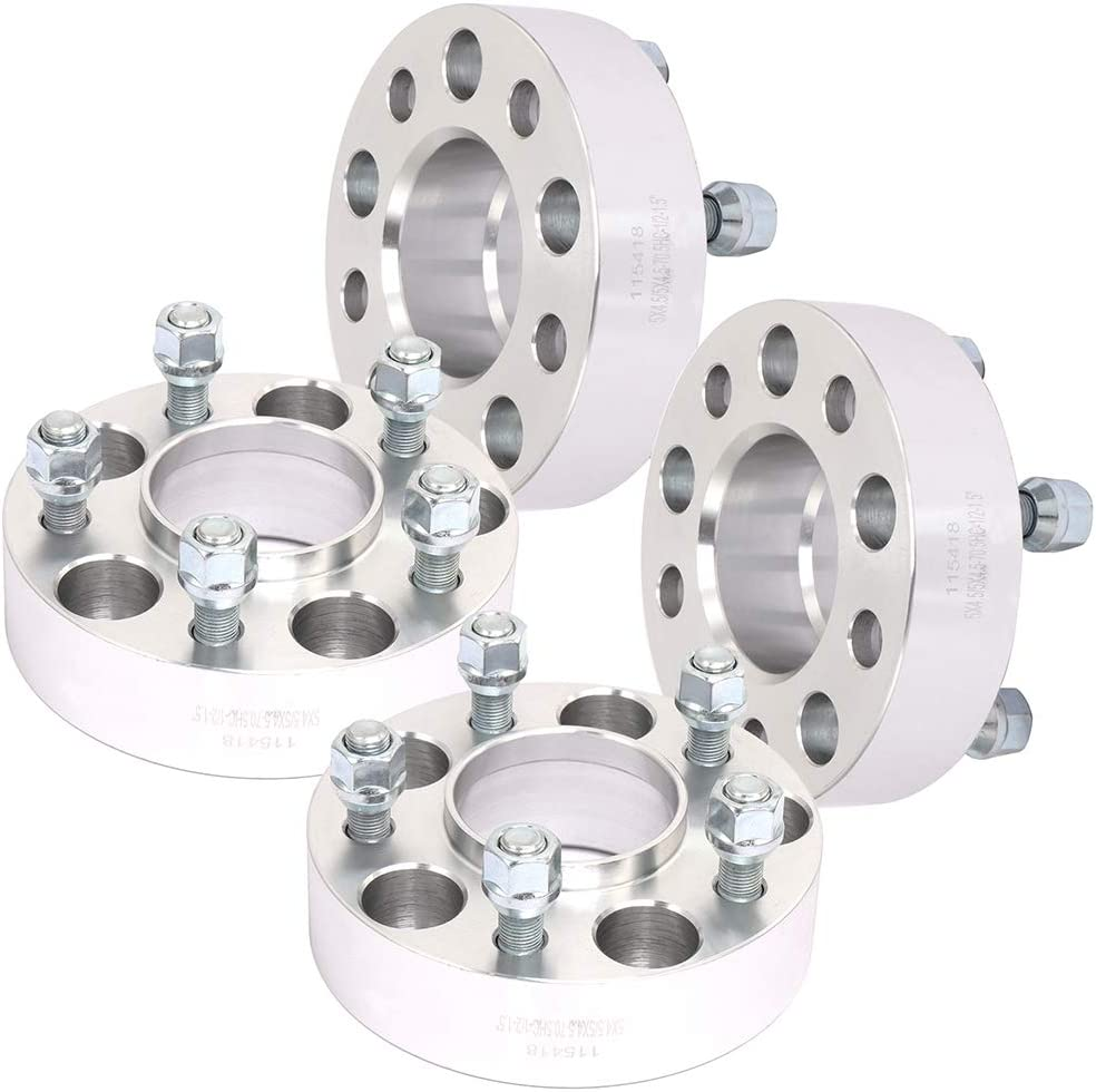 SCITOO 2X 1.5 inch 5x4.5 to 5x4.5 Hubcentric Wheel Spacers 5x114.3 5 Lug with 1//2 Studs for F-ord Mach I for Mazda B4000 B3000
