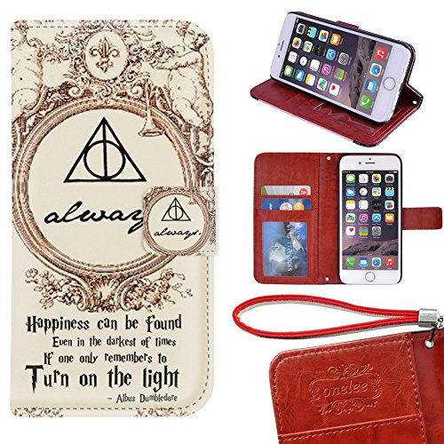"Price comparison product image iPhone 6S Plus Wallet Case - Onelee Harry Potter Premium PU Leather Case Wallet Flip Stand 5.5"" Case Cover for iPhone 6S Plus with Card Slots"