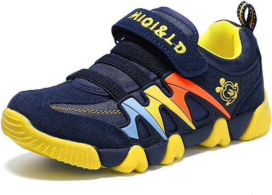 Unisex Niños Zapatillas de Running Deportes Gimnasio Respirable Mesh Zapatos Moda Casual Deportes Al Aire Libre Antideslizante Sneakers: Amazon.es: Zapatos y complementos