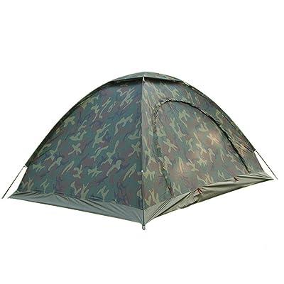 NIHE pluie à l'extérieur de camouflage portable 2 vitesses automatique tente ouverte camping en plein air voyage de camping moustiques tente