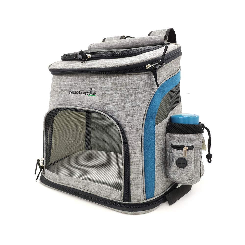 bluee M bluee M uBeste Dog Carrier Backpacks, Hands Free Adjustable Pet Dog Cat Backpack Carrier for Walking Hiking Bike and Motorcycle, bluee, Medium