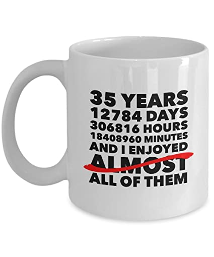 Amazon Funny 35th Anniversary Mug Jade Wedding Day 35 Years