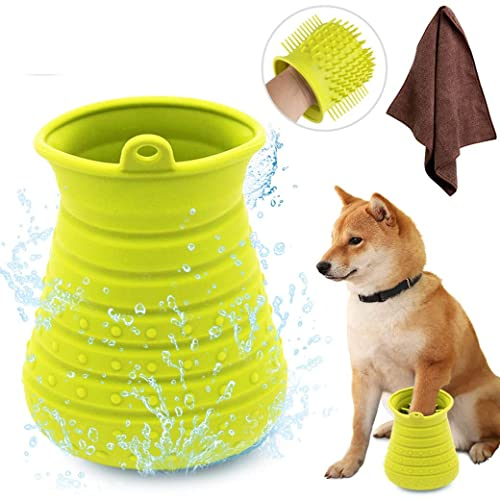 Idepet-Dog-Paw-Cleaner-Cup-with-Towel-Pet-Foot-Washer
