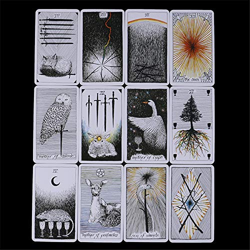 MonLiya 78Pcs/Set- Wild Unknown Tarot Deck Universal Mysterious Future Telling Game Card Set with Colorful Box Guessing Board Game Gift Poker Desk Toys by MonLiya (Image #3)