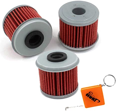 hurí 3 x Filtro de aceite para Honda CRF 150 R/CRF 250 CRF 450 XR/TRX 450 R ER # HiFlo hf116/K & N kn116/MF MF116