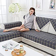 Ieasycan Antislip Winter Thick Plush Sofa Cover Armrest Slipcover 100% cotton Covers Sectional Seat Covers Towel For Home Textile