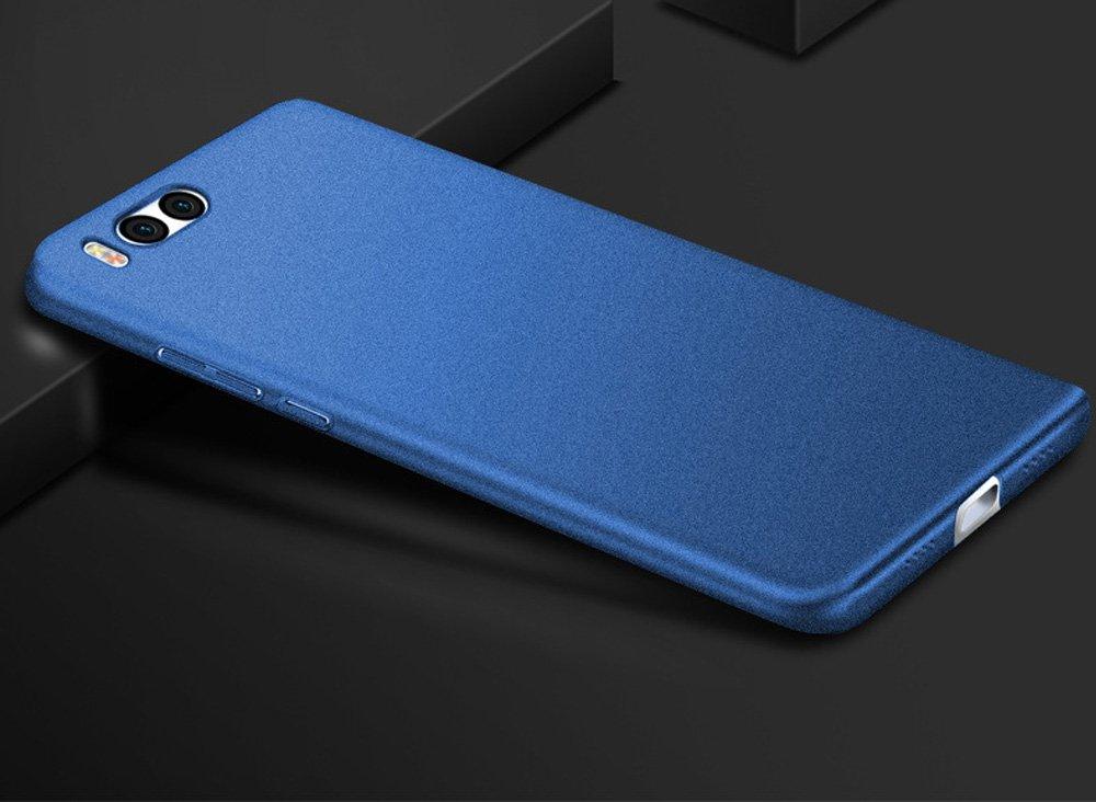 Baanuse Xiaomi 6 Funda Xiaomi Mi6 Funda, [Ultra Slim Soft TPU] [Sand Scrub Non-slip] [Shockproof Armor] Carcasa para Xiaomi 6 Azul