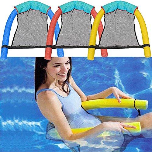 Cozywind Luftmatratze Lounge Stuhl Bett Schwimmbad für Pool Wasserliege Sitzplätze Sitz, Pool Nudel Stuhl mit Netzstoff Blau