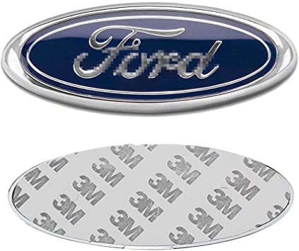 Shenwinfy 7 Inch Front Grille Tailgate Emblem for Ford Black 3D Oval Adhesive Badge for Ford Escape Excursion Expedition Ranger Freestyle Freestyle Five Hundred F-150 F-250 F350 F450 F550