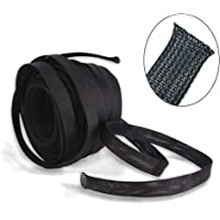 """(100ft x 1/2"""") Cable Sleeve, PET Expandable Braided Sleeving Wire Sleeve Black Cable Wrap for HiFi Audio and Video…"""