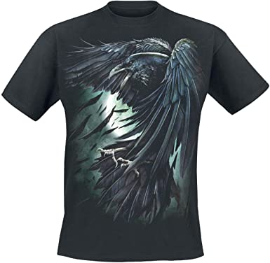 Spiral Gothic Shadow Raven Crow T-Shirt