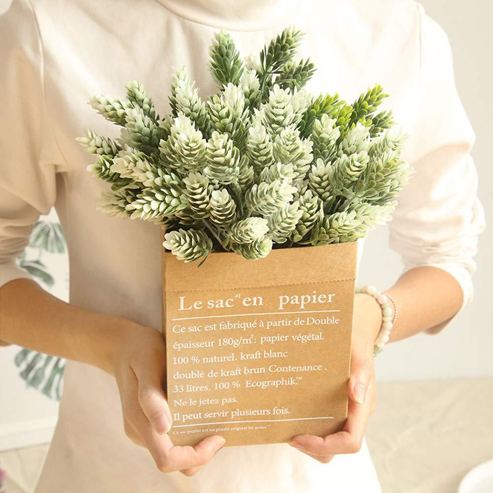 tianranrt Artificial gefälscht plástico seda eucalipto Planta Flores Jardín de casa boda decoración, Amarillo: Amazon.es: Bricolaje y herramientas