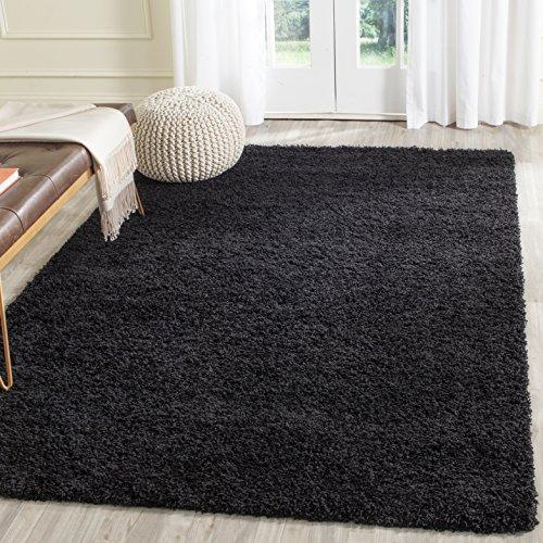 (Safavieh Laguna Shag Collection SGL303L Black Area Rug (3' x 5'))