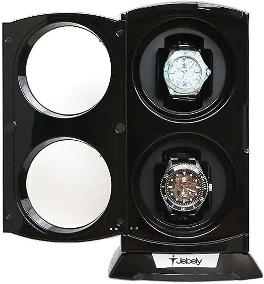Caja Relojes Automaticos Jebely Negro Doble Reloj Winder para Relojes Automáticos Caja de Relojes Doble Automática Caja de Exhibición de Relojes de Joyería: Amazon.es: Relojes