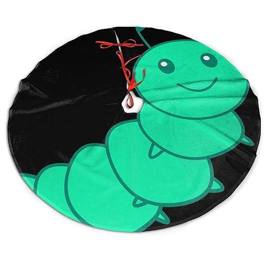 Pengyong - Falda para árbol de Navidad, diseño de Oruga Verde ...