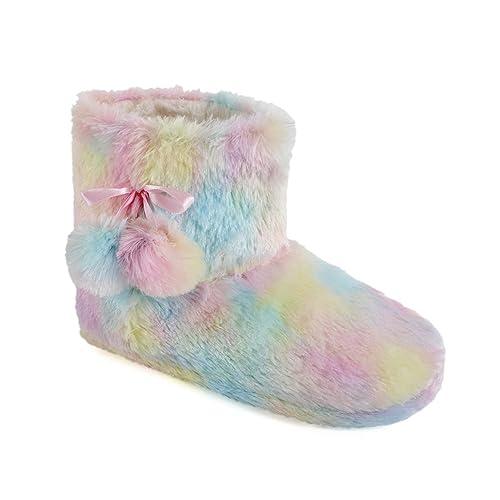 Zapatillas Bootie Mujer Rainbow Plush Bootie. 40/42: Amazon ...