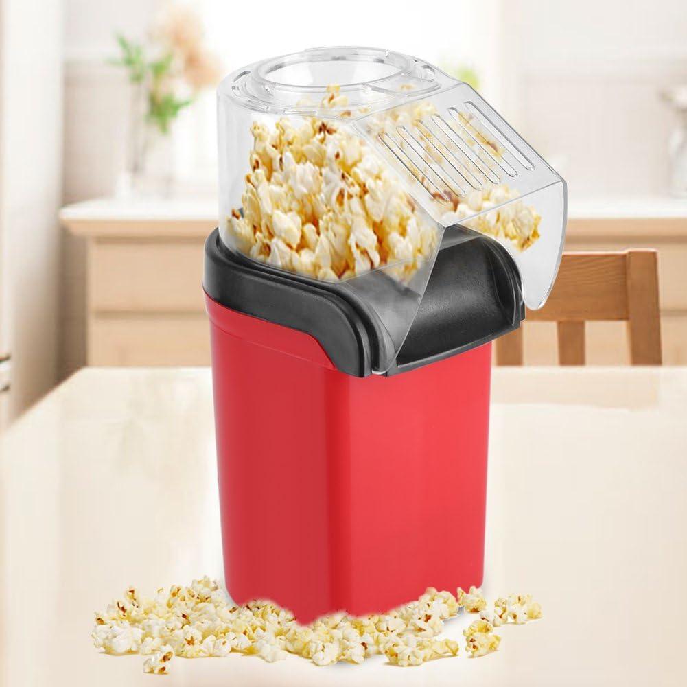 Asixx Máquina eléctrica para Hacer Palomitas de maíz, Mini máquina de Hacer Palomitas de maíz eléctrica de 1200W Máquina automática de Palomitas de maíz para Uso doméstico Enchufe de 220V UE, Rojo: