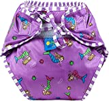 Kushies Baby Unisex Swim Diaper - Large,Mermaids Print,Large,