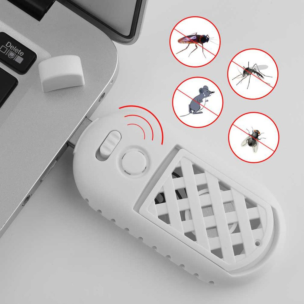 Vacio Electronic Ultrasonic Pest Repeller, Vacio USB Portable Ultrasonic Outdoor Home Electronic Mosquito Insect Repellent for Spiders, Rats, Mice, Roaches, Mosquitoes, Other Insects Home Pest