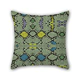 PILLO geometry pillowcover 18 x 18 inches / 45 by 45 cm for sofa,husband,dance room,home theater,her,teens with double sides
